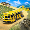 Offroad School Bus Driving: Flying Bus Games 2020