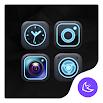 Blue Neon APUS Launcher theme