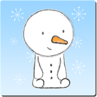 Little Snowman Sticker for WhatsApp