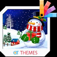 Christmas Snowman Xperia Theme