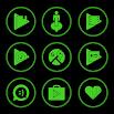 Green On Black Icons By Arjun Arora