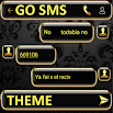 THEME FOR GO SMS GOLD GLASS