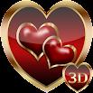 Heart Valentine 3D Next Launcher theme