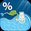 Pool Drain Percent Calculator