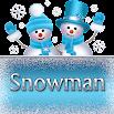 Snowman Go SMS theme 2