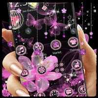 Pink Neon Flower Glitter Bling Theme 1.1.5