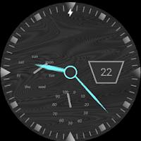 Electric Blue Granite Watch Face 2.0
