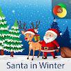 Santa in Winter | Live Wallpaper | Xperia Theme 1.0.5