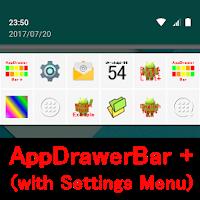 アプリドロワー・バー + AppDrawer Bar + 622k