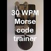 30WPM Amateur ham radio Koch CW Morse code trainer 2.0.3