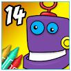 Coloring Book 14: Robots 3