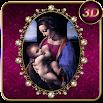 Virgin Mary Purple 3D Next Launcher theme 1.2