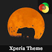 Orange moon | Xperia™Theme + icons 1.the.0