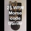 25WPM Amateur ham radio Koch CW Morse code trainer 2.0.4