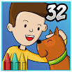 Coloring Book 32: Jim and His Dog 1