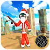 Santa Claus Stickman - Rope Hero Gangster Crime 4.3 and up