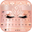 Rose Gold Drop Princess Keyboard Theme 1.0
