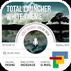 WHITE total launcher theme 1.4