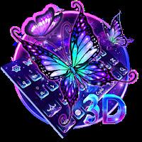 Lively Neon Butterfly Keyboard 10001012