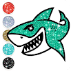 Baby Shark Coloring Book Glitter 3.0