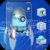 High-Tech Glass 3D Theme Galaxy M20 Launcher 2.0.1