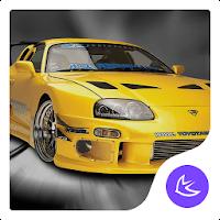 Yellow Sports Car Speed free APUS Launcher theme 567.0.1001