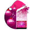 Pink Christmas Keyboard Gold