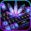 Shiny Galaxy Weed Keyboard Theme 3.0