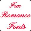 Romance Fonts for FlipFont 1.9
