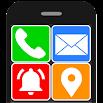 Senior Safety Phone - Big Icons Launcher 3.7