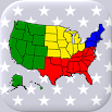 50 US States Map, Capitals & Flags - American Quiz 3.3.0