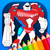 Robots Coloring Pages with Animated Effects 3.3