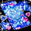 Blue hearts crystal diamonds live wallpaper 18.6