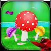Mushroom & Butterfly 3D live wallpaper 3.8