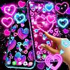 Neon hearts live wallpaper 18.6