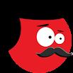 Super Red Jump Ball Mr Mustache 2.5