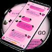 SMS Theme Ribbon Black - pink 250